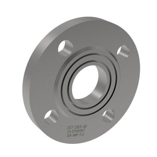 Фланец стальной плоский приварной 1 исполнение Ду40 Ру10 сталь 12Х18Н10Т ГОСТ 12820-80