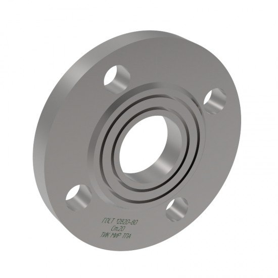 Фланец стальной плоский приварной 1 исполнение Ду1200 Ру10 сталь 20 ГОСТ 12820-80