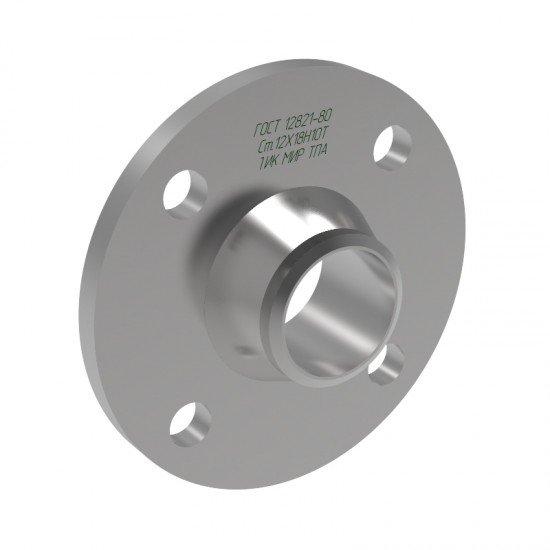 Фланец воротниковый приварной встык 1 исполнение Ду50 Ру16 сталь 12Х18Н10Т ГОСТ 12821-80
