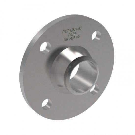 Фланец воротниковый приварной встык 1 исполнение Ду32 Ру6 сталь 20 ГОСТ 12821-80